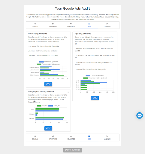 website audit example