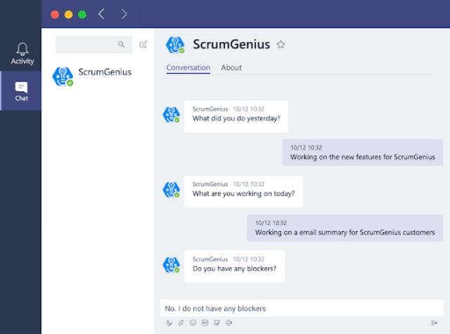 microsoft teams apps scrumgenius