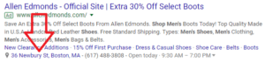 adwords ad extensions location example