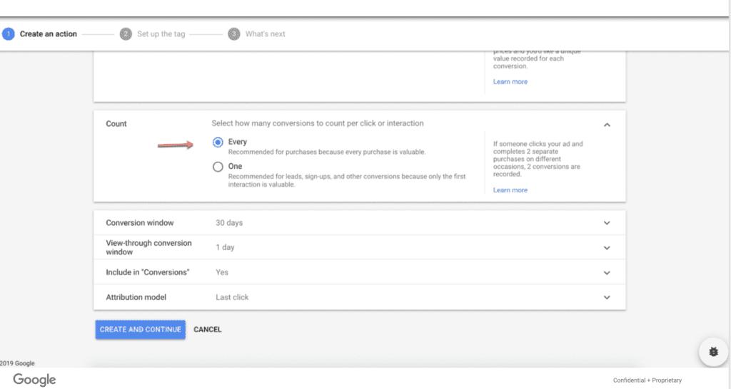 google ads action 2