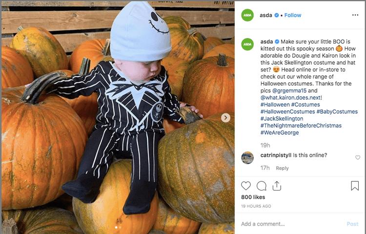 halloween marketing on instagram idea
