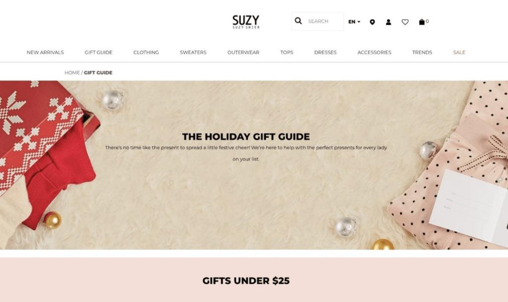 Suzy Shier Christmas ads example1