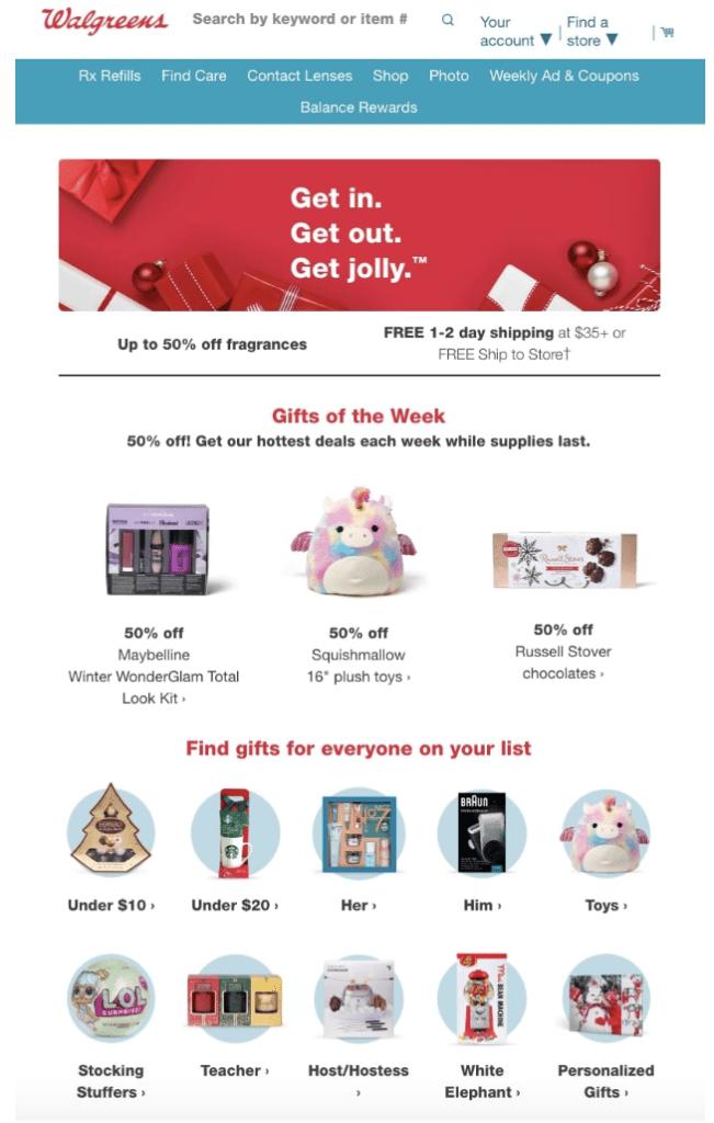 Walgreens Christmas ads example2