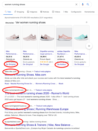 seo running shoes