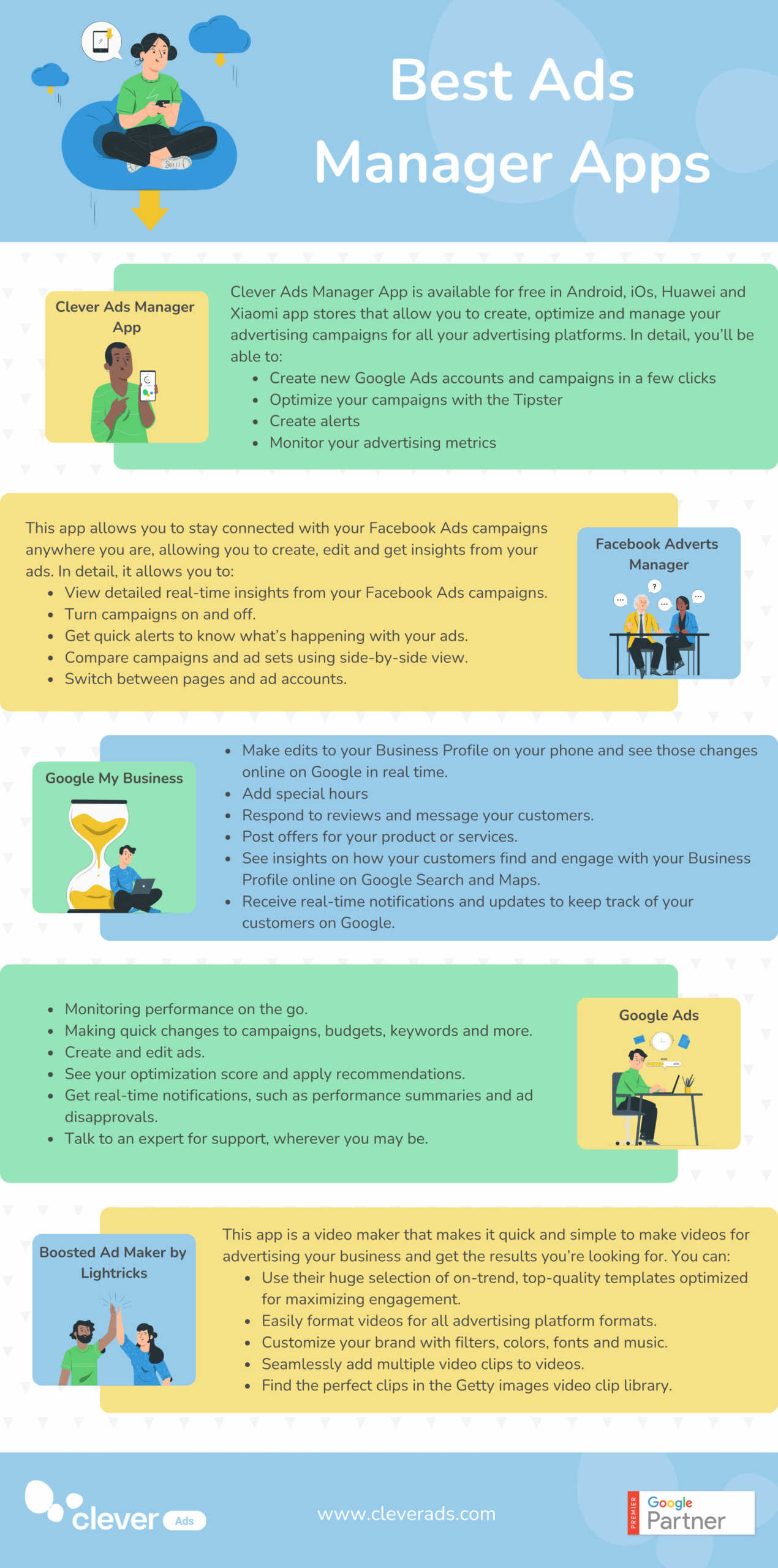 clever manager apps infographic